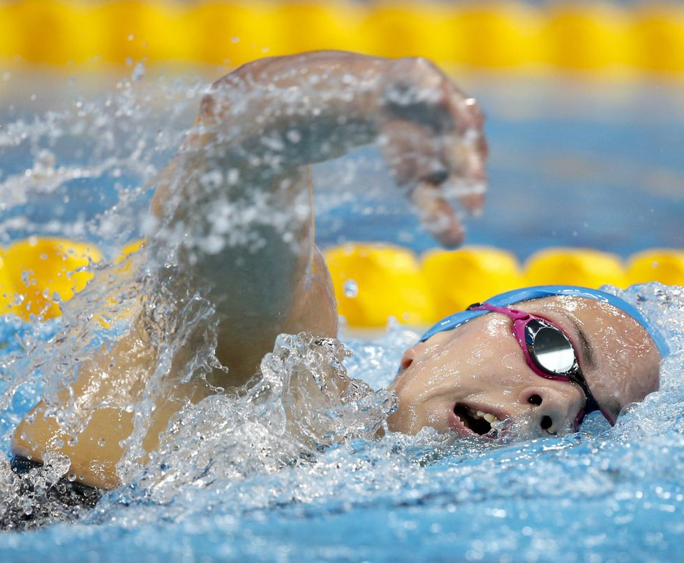La ribeirense María Vilas, en Londres, compitiendo en la prueba de 1.500 metros.