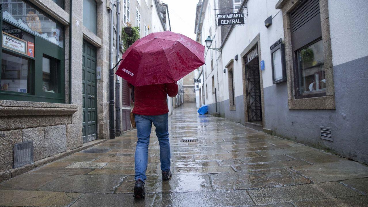 Lluvia en Santiago en una imagen de archivo