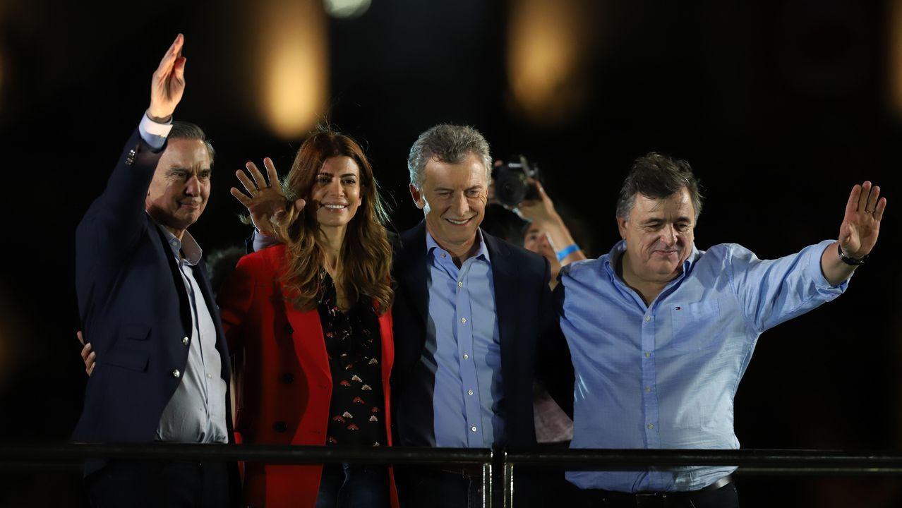 Mauricio Macri en el cierre de campaña