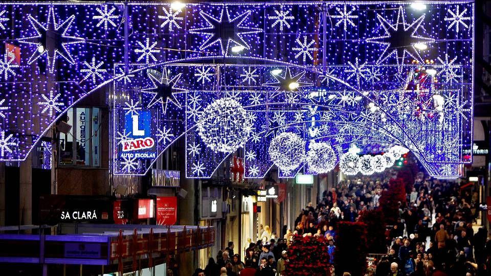 Encendido de las luces de navidad en Vigo.