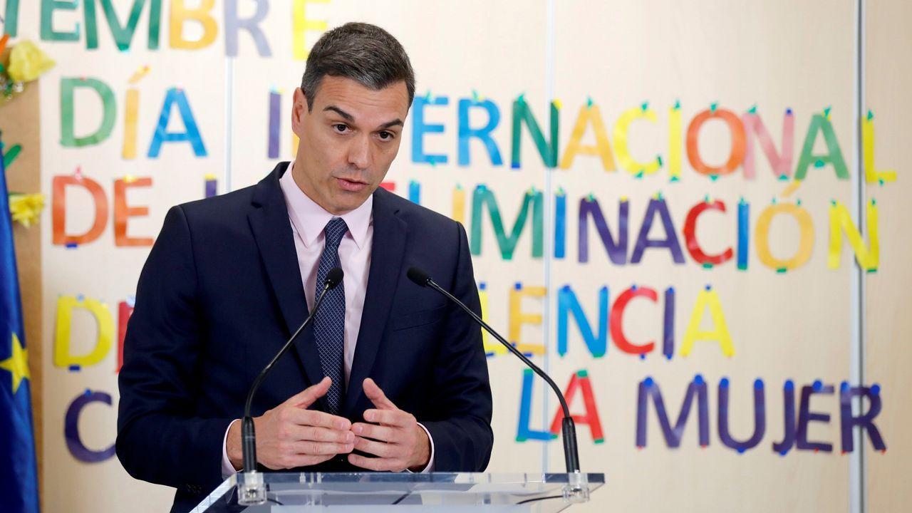 El presidente del Gobierno, Pedro Sánchez, en la Casa Malva, en Gijón