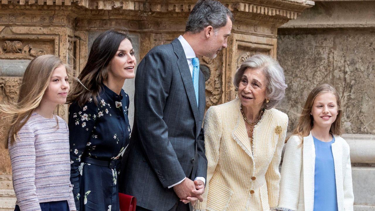 Las visitas de la familia real a Palma captan siempre gran atención mediática