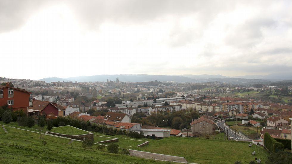 Vistas de Santiago desde el mirador de Monte de Deus.