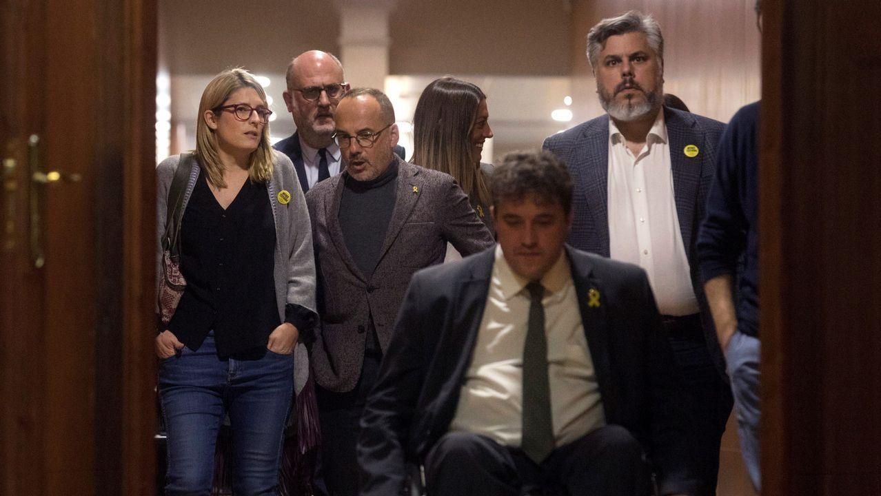 | EFE.El expresidente catalán Carles Puigdemont durante una rueda de prensa hoy en la delegación de la Generalitat en Berlín