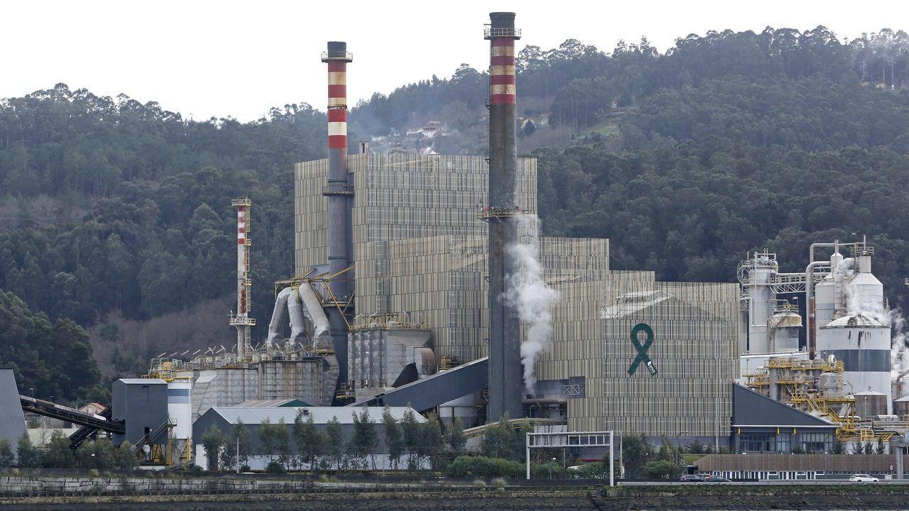 Factoría de Ence en Lourizán, en la ría de Pontevedra