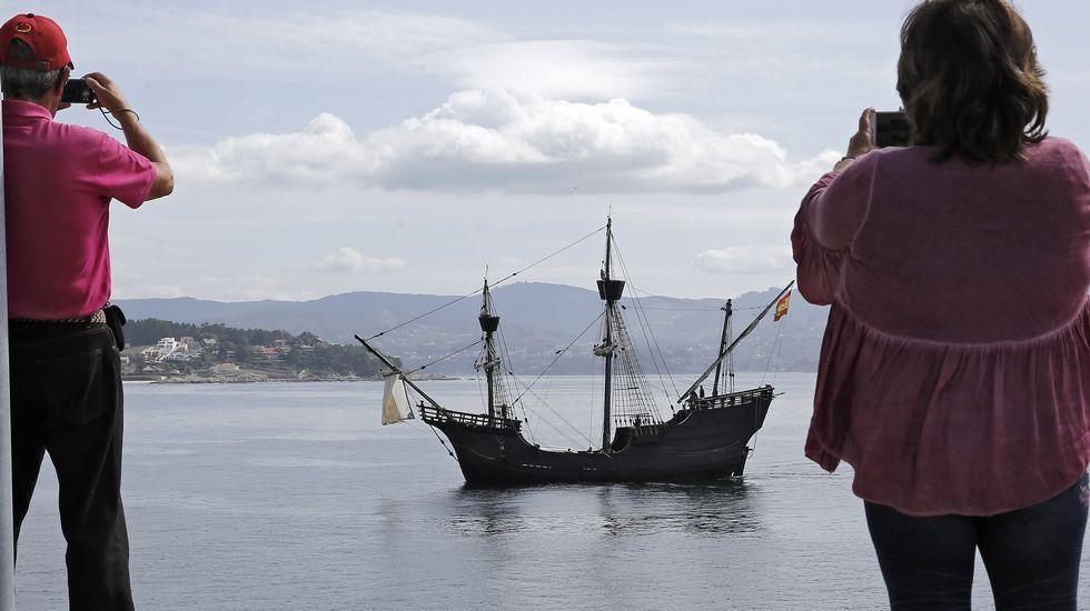 La nao Victoria exhibe en Sanxenxo la vida a bordo de un barco hace cinco siglos