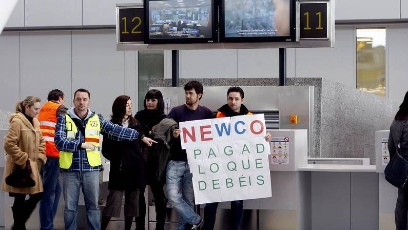 La empresa Newco opera los servicios de tierra de Air France, Air Europa y Volotea.