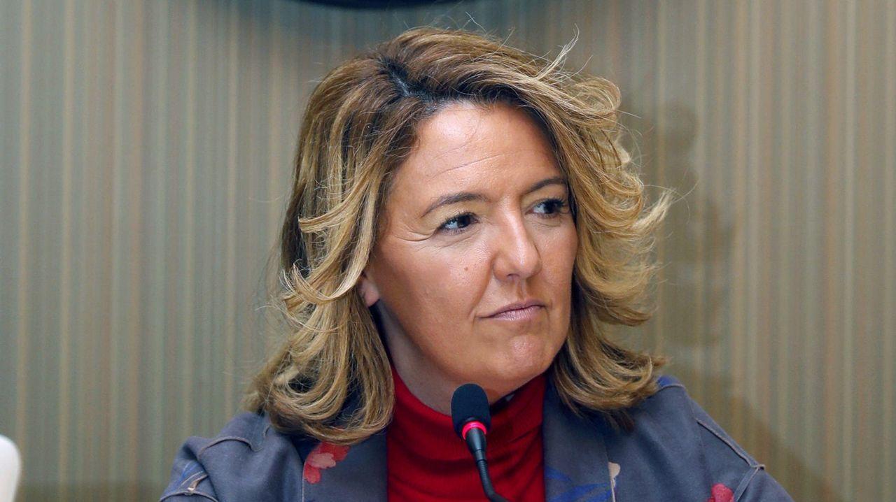 La candidata del PP al Gobierno del Principado, Teresa Mallada, durante la presentación su página web