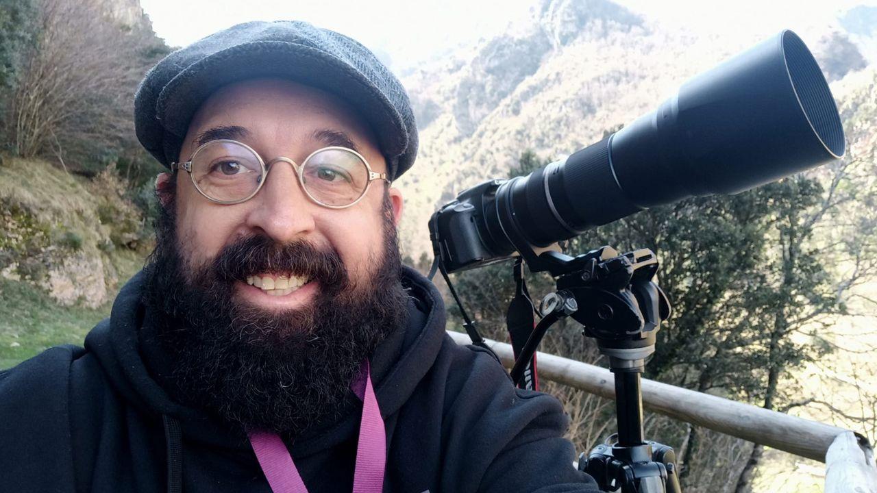 El «mochuelo chico» hallado en Pirineos.David Acera