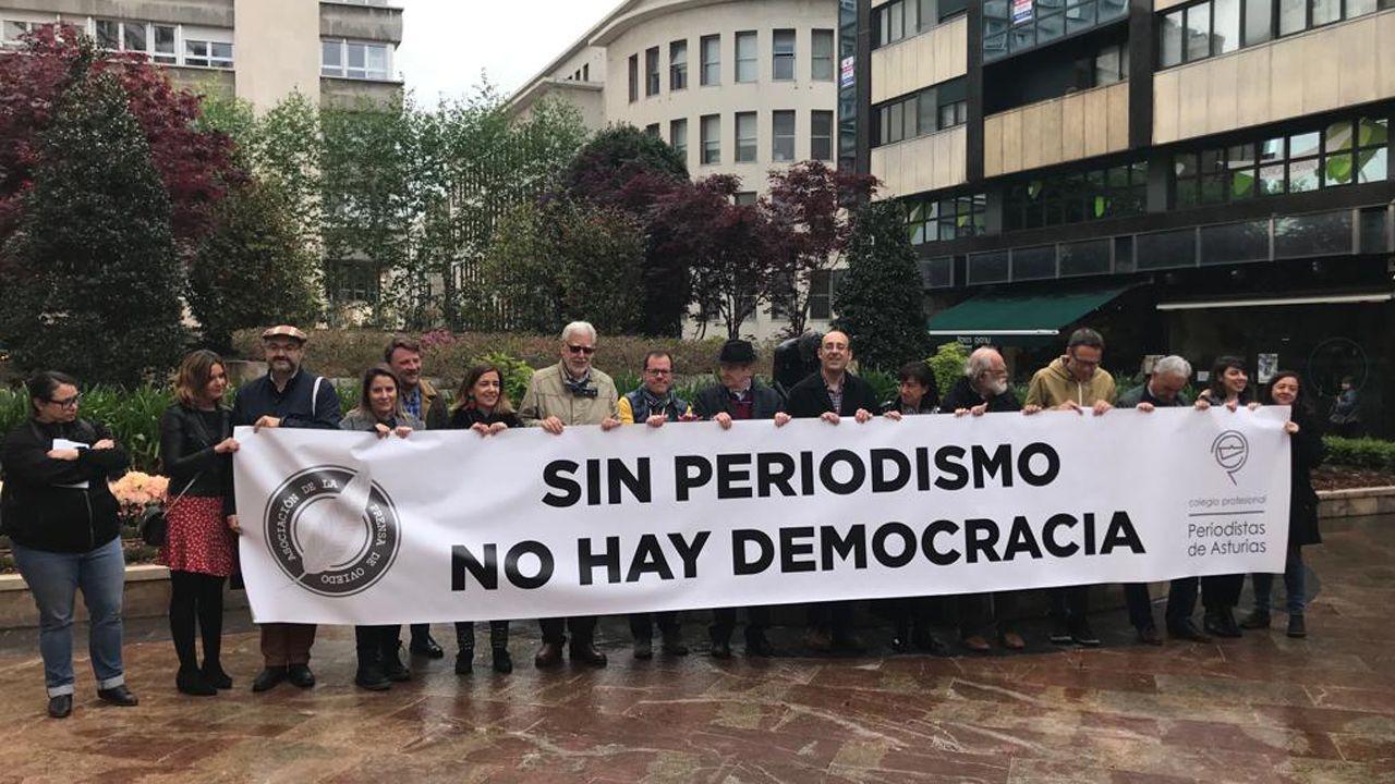 La Asociación de la Prensareivindicasus derechos en Oviedo.Estación Depuradora de Aguas Residuales Gijón Este