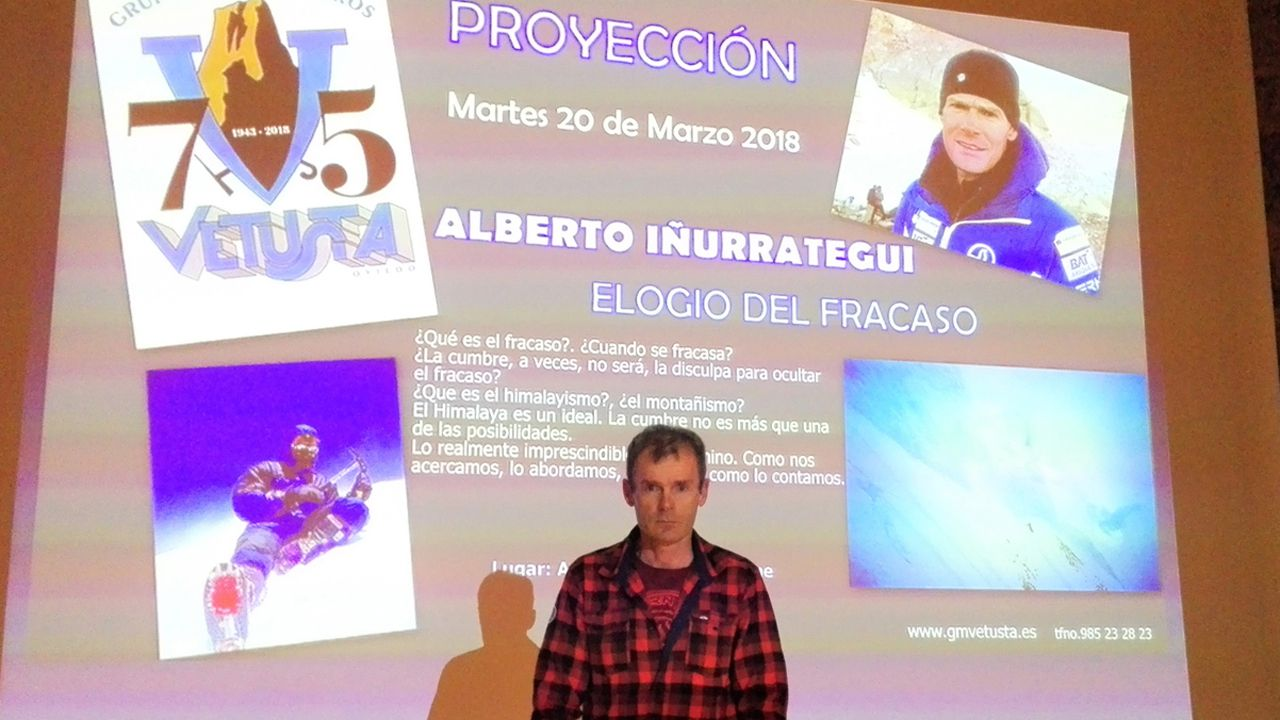 «Cartas de Tomina», el nuevo documental del director asturiano JK Álvarez.El alpinista Alberto Iñurrategi en el auditorio de Oviedo