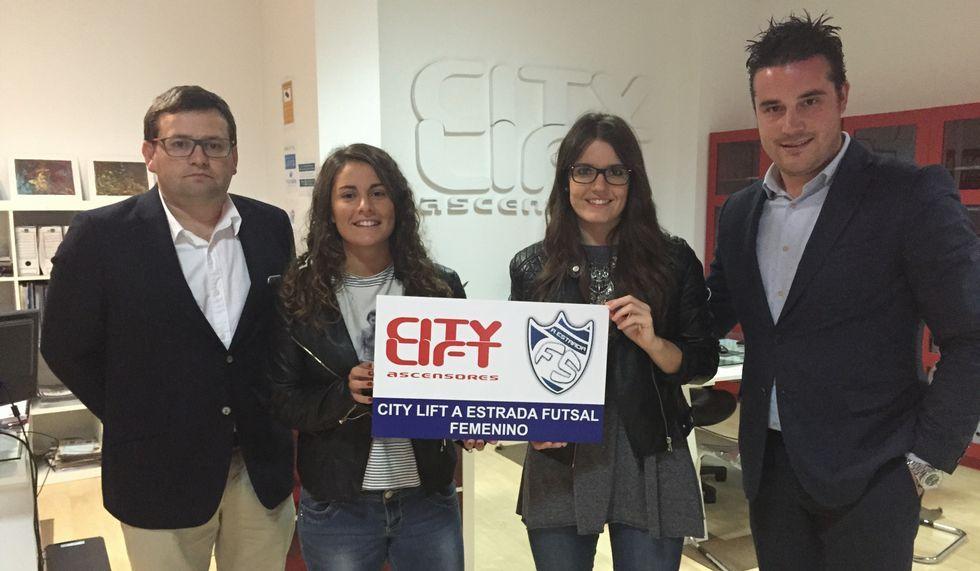 La firma City Lift patrocina esta temporada al equipo femenino.