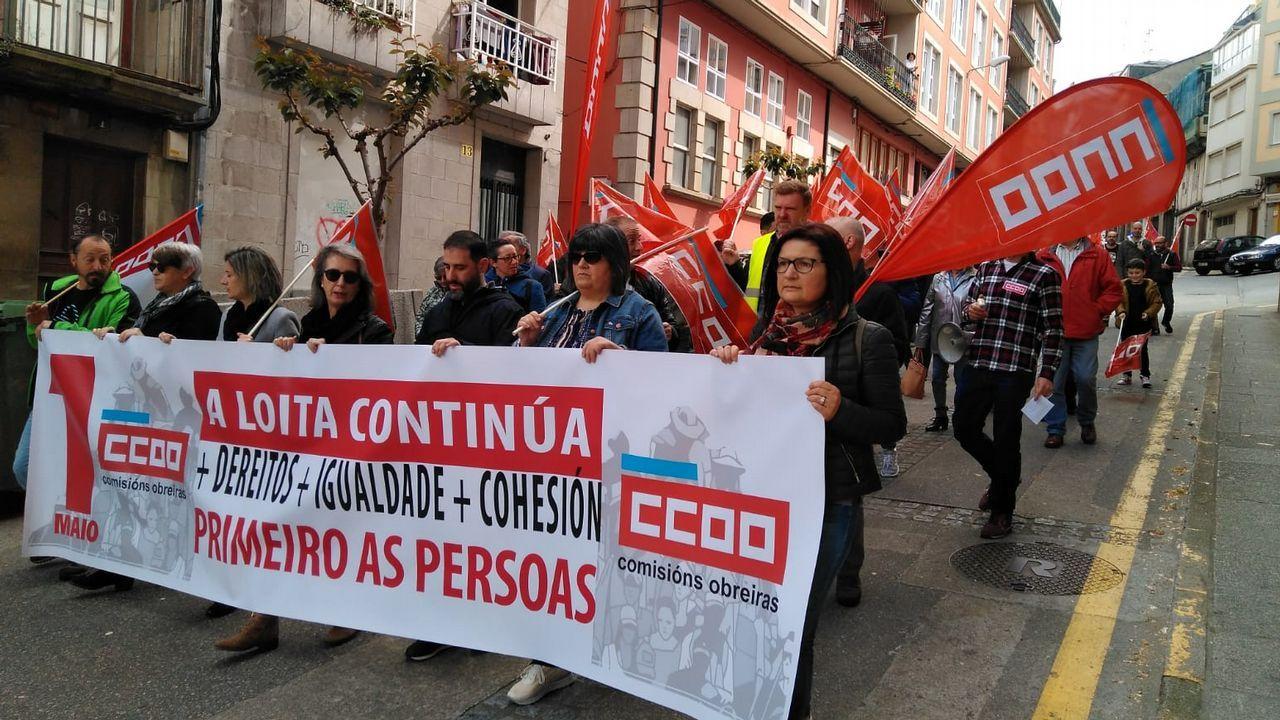 Las imágenes del 1 de mayo en A Coruña.Exterior del centro de salud de Seoane do Courel, uno de los dos que existen en el municpio