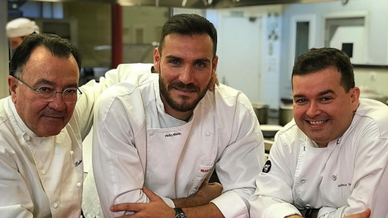 Saúl Craviotto con Pedro y Marcos Morán