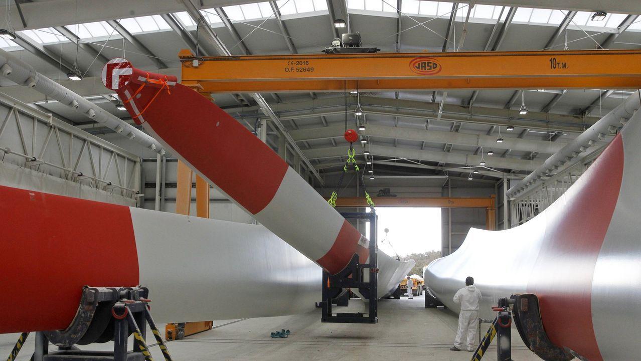 La planta de Siemens Gamesa en As Somozas -en foto de archivo- está destruyendo empleo