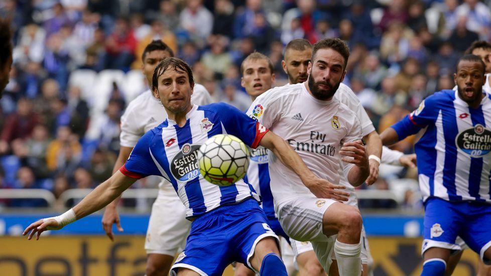 El Deportivo-Real Madrid, en fotos.Manuel Pablo, contra el Real Madrid en el último partido de Liga