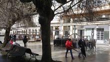 Los bares de la Praza Maior de Lugo, cerrados