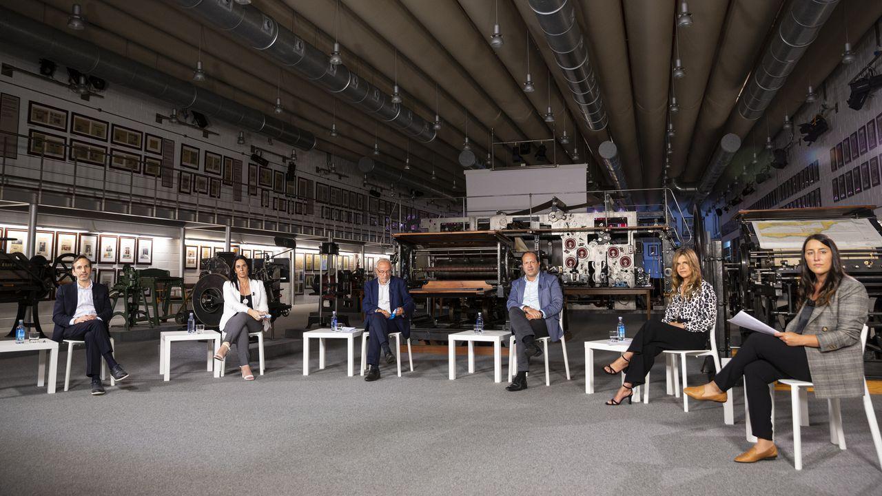 El alcalde y los portavoces municipales, en una foto de archivo