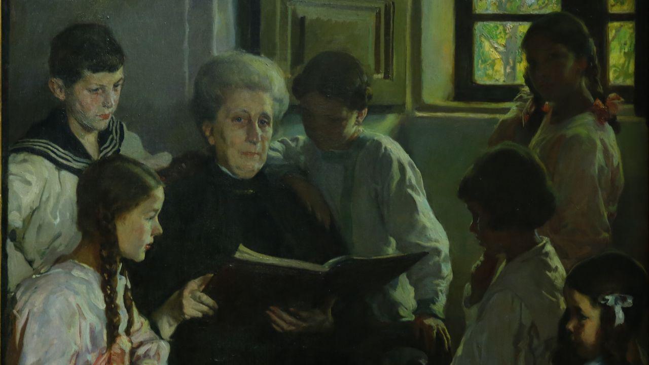 ciencia.Detalle de «Abuela y nietas», de Sotomayor