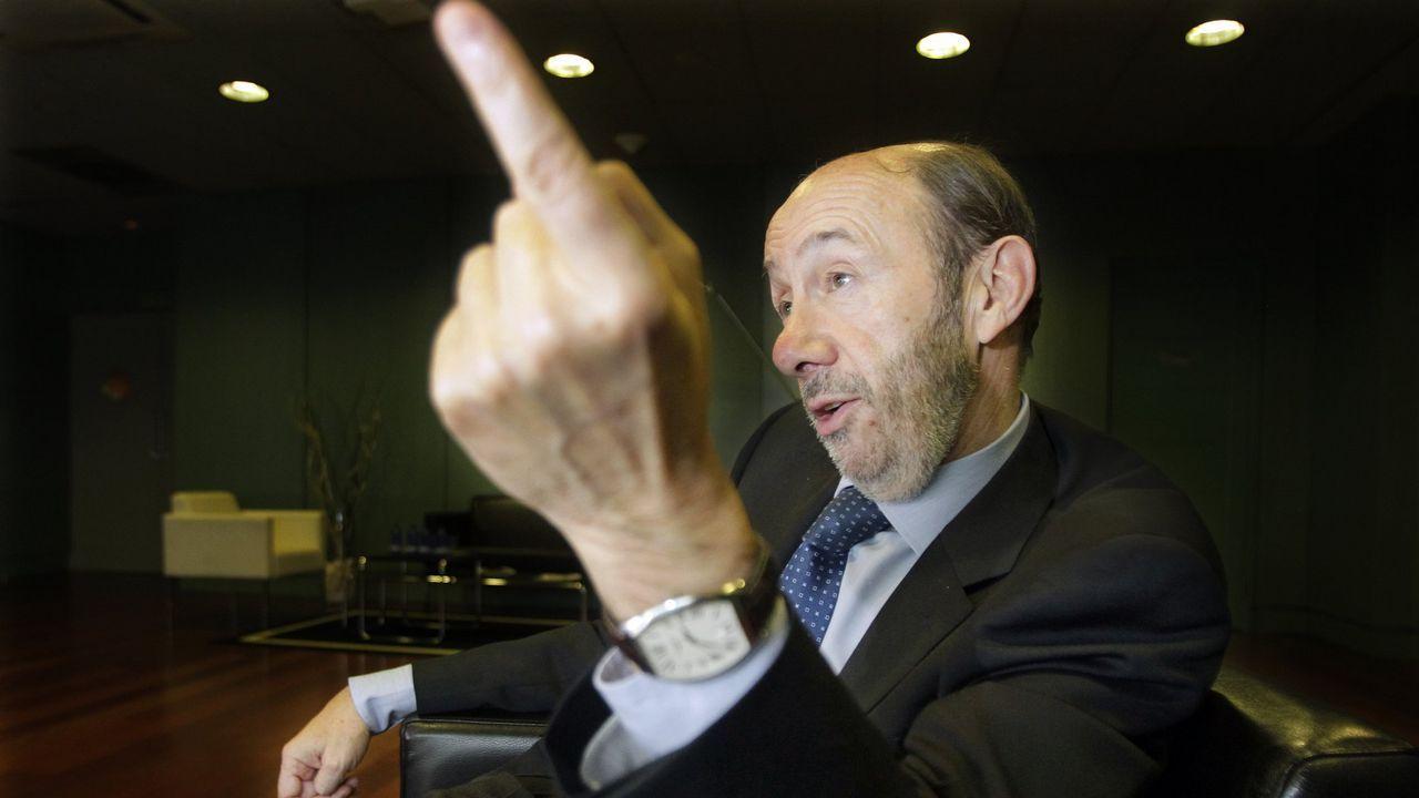 Imagen de una entrevista a La Voz de Galicia a pocos días de las generales del 20 de noviembre del 2011