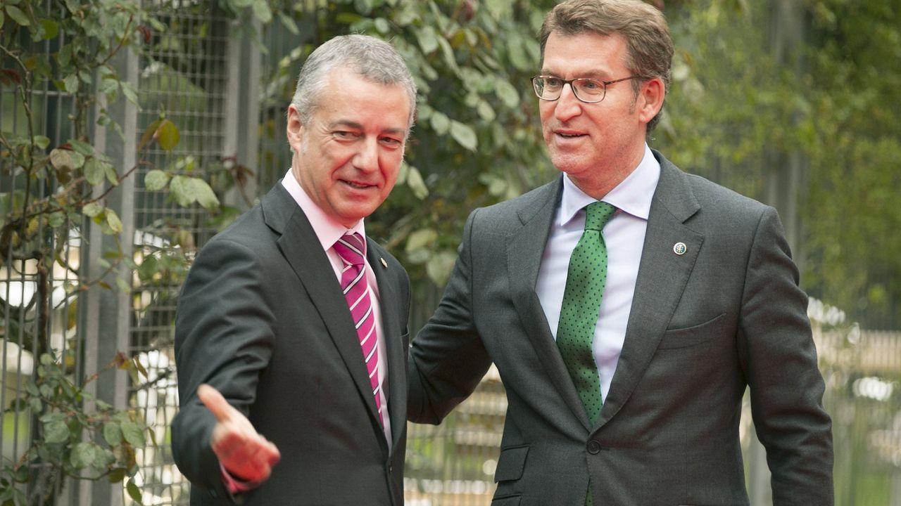 Feijoo y Urkullu, en una reunión a mediados del 2016
