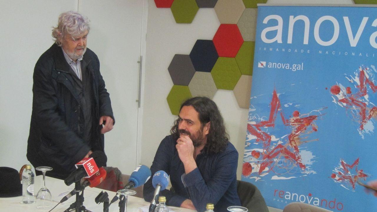 Antón Sánchez y Luís Villares