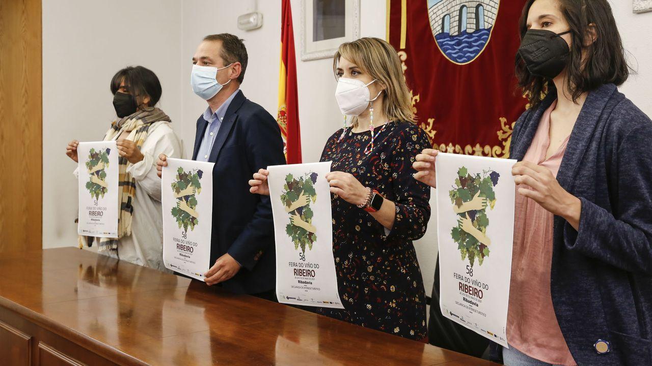 Clausura de la Feira do Viño do Ribeiro.Imagen de la presentación del cartel de la feria de este año