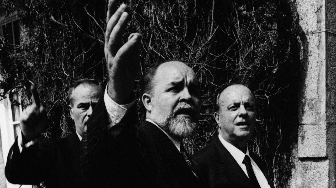 Con Manuel Fraga en una visita al Pazo de Castrelos en marzo de 1990
