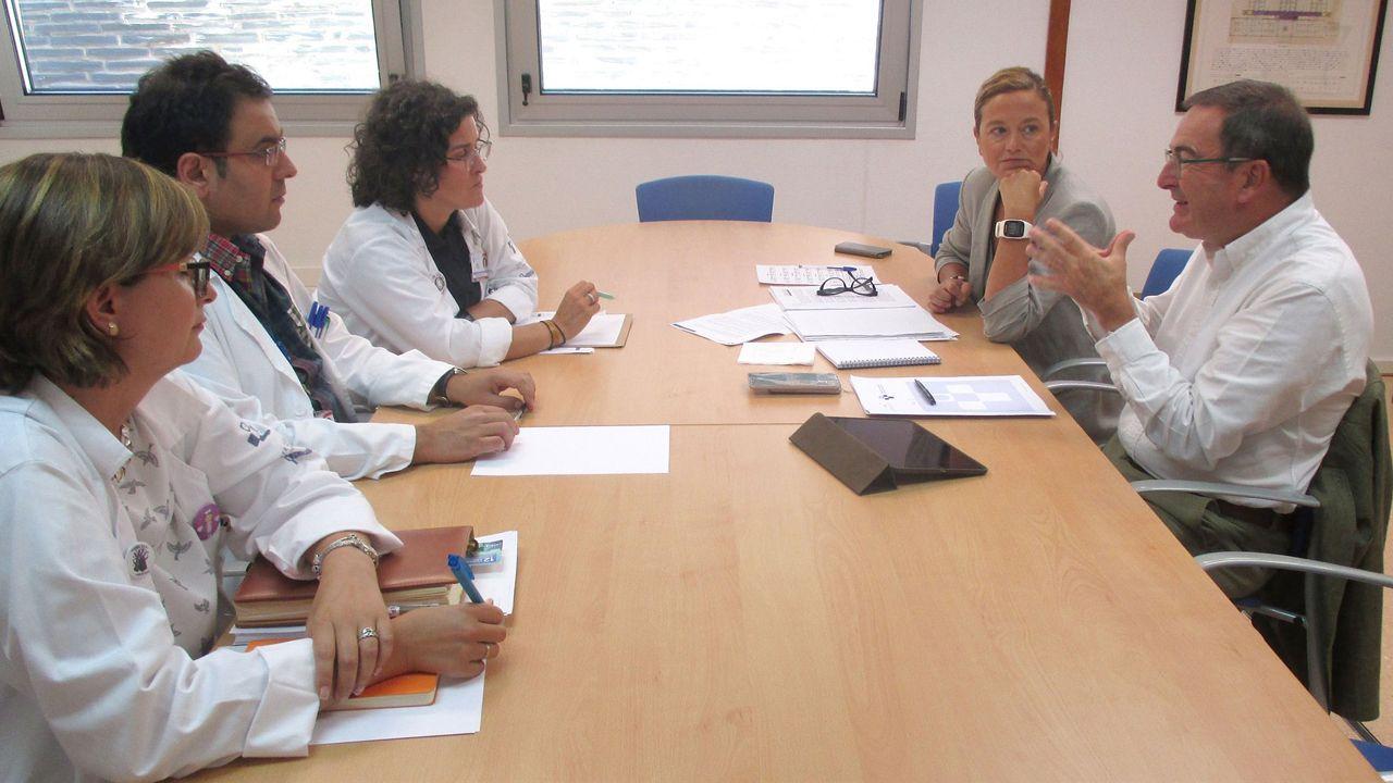 Oposiciones.Reunión de José Ramón Riera con la gerencia del área sanitaria I del hospital de Jarrio