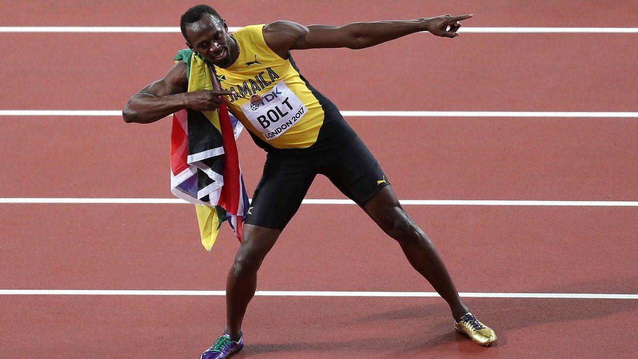 Bolt no llegó ni a cruzar la meta