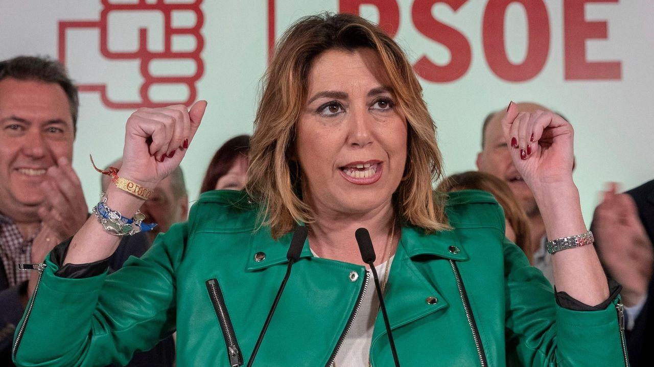 Susana Díaz perdió las primarias con Sánchez