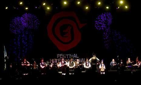 La banda de la Escola de Gaitas de Ortigueira actuó el viernes y hoy cerrará el festival.