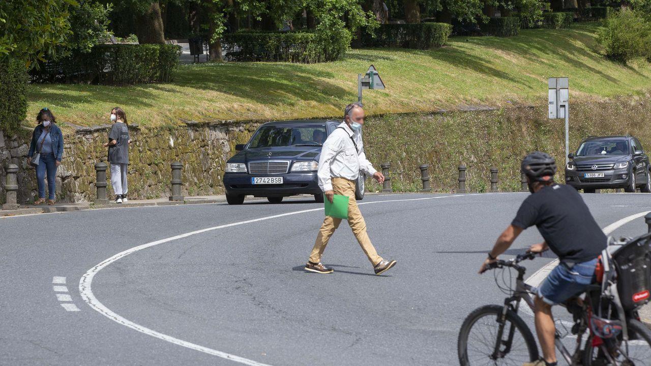 Conductas peligrosas de peatones de Santiago
