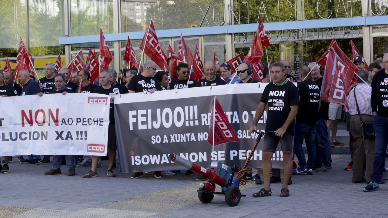Concentración trabajadores de Isowat