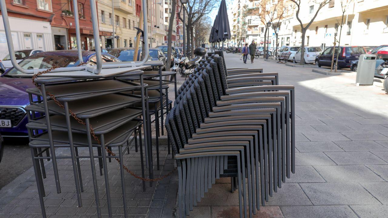 Terrazas clausuradas en Madrid