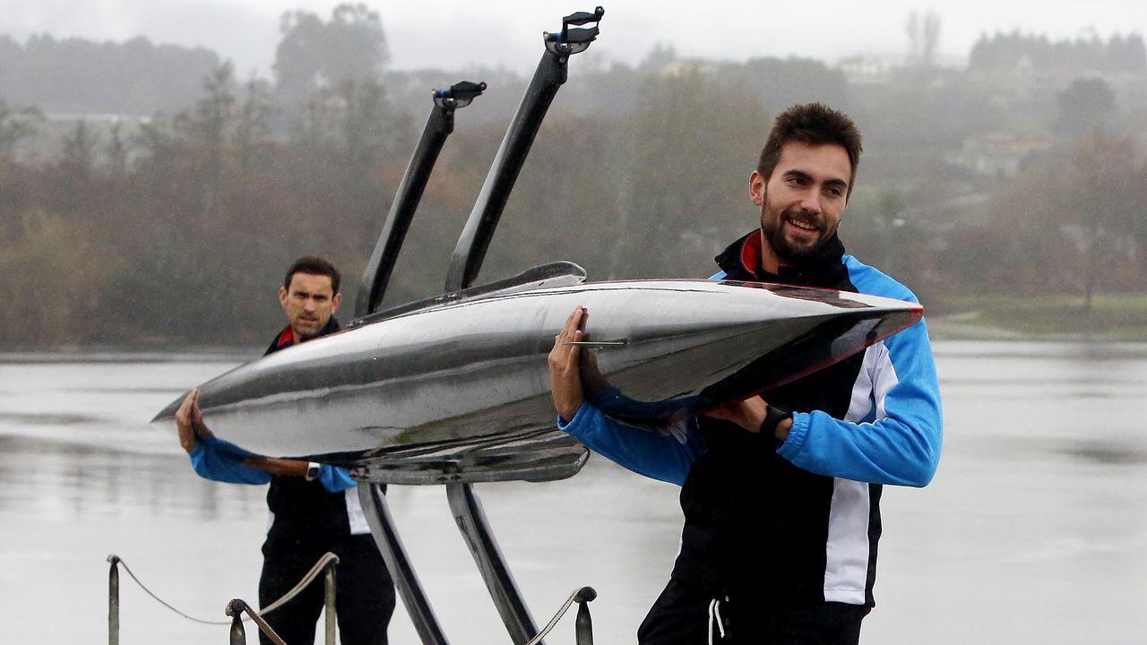 Rodrigo Conde. Moañés, de 21 años, es una de las grandes perlas del remo español. Oro mundial sub-23 de doble scull ligero.