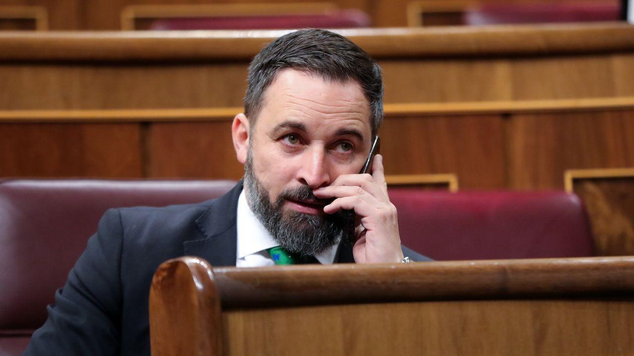Pedro Sánchez, al finalizar la segunda sesion del pleno de investidura el pasado día 5