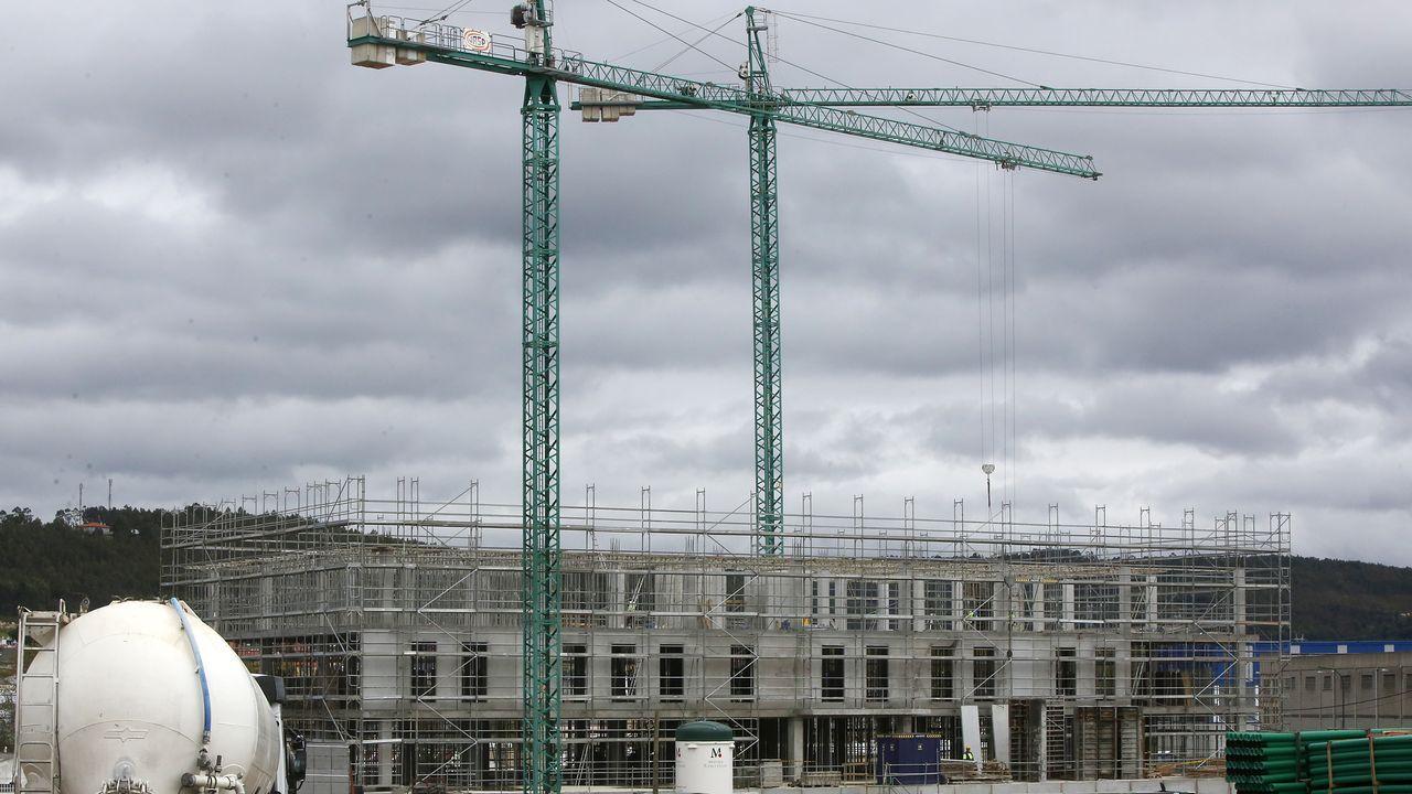 Además de todas las obras viarias a cargo de las Administraciones, en la antigua parcela de Schweppes se levanta un complejo de oficinas.