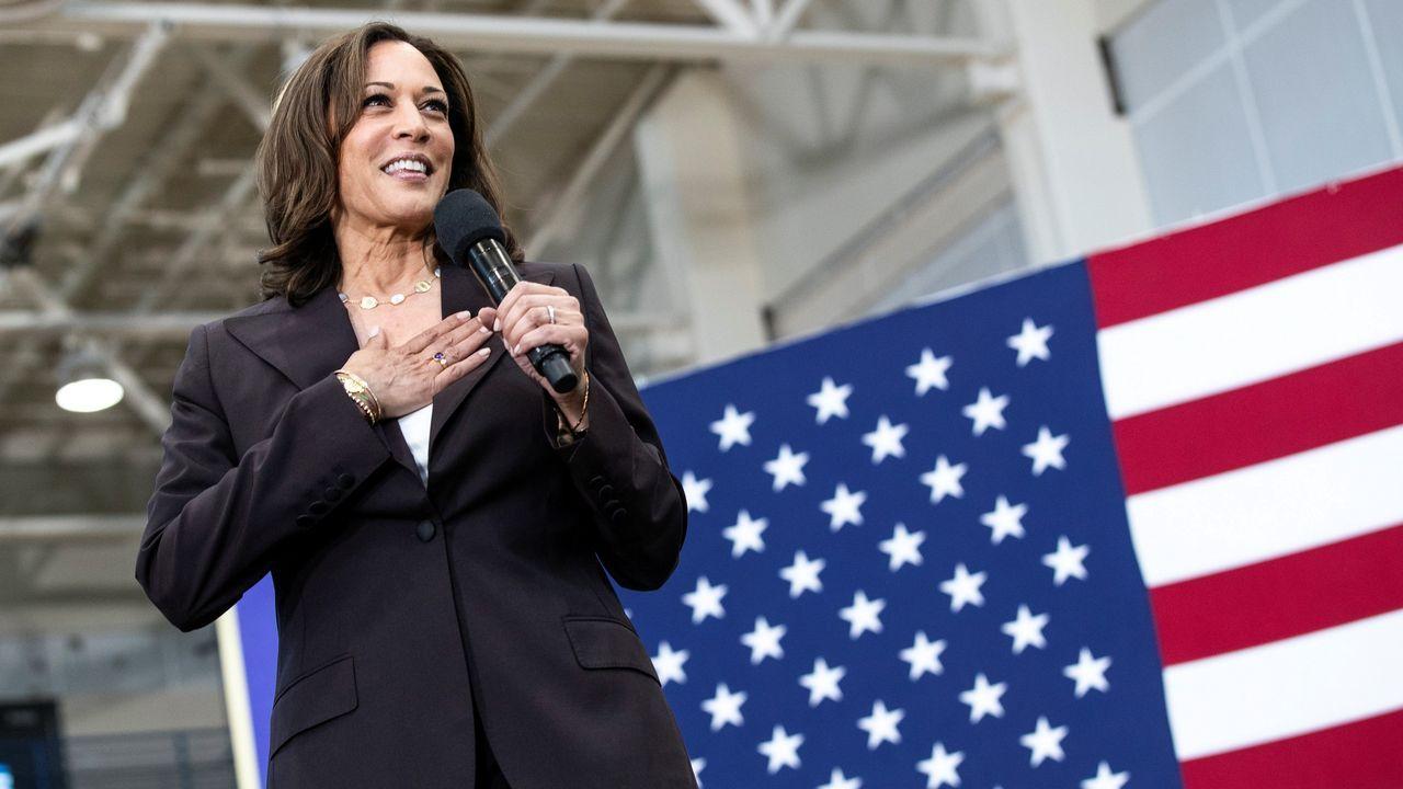 La senadora y exfiscal californiana Kamala Harris