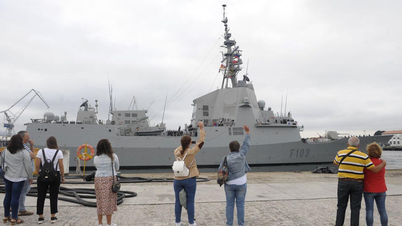 La fragata Blas de Lezo (F-103) zarpa de Ferrol para integrarse con la OTAN en el Mediterráneo.Su gemelo, el Supply, fue puesto a flote a finales de noviembre