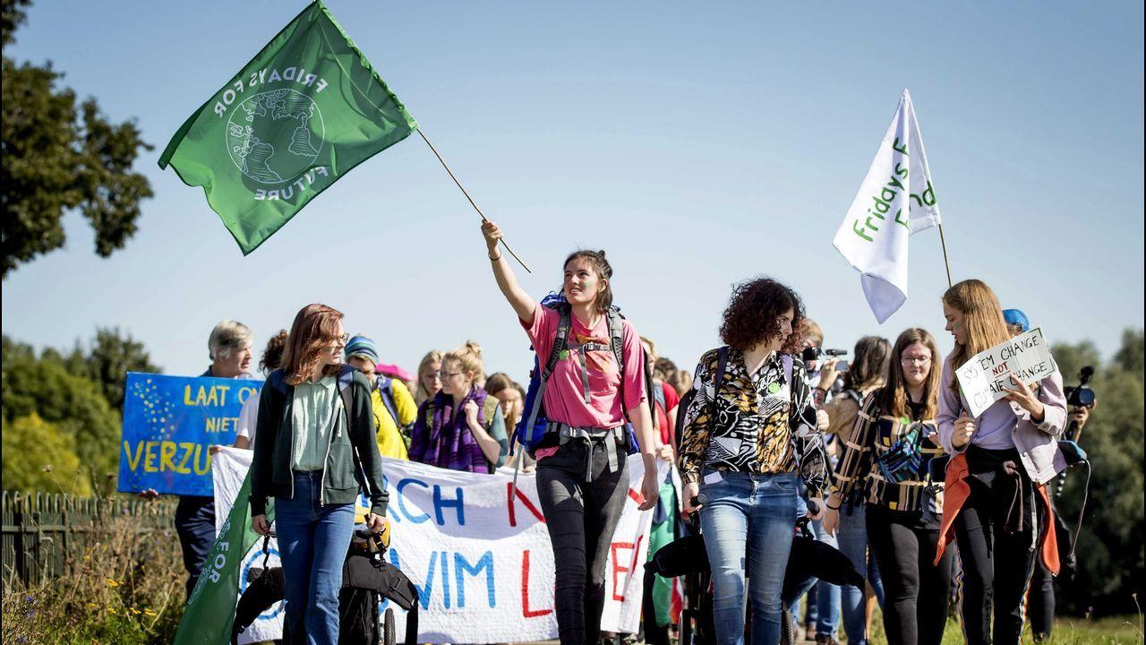 Manifestación en Wageningen, Holanda