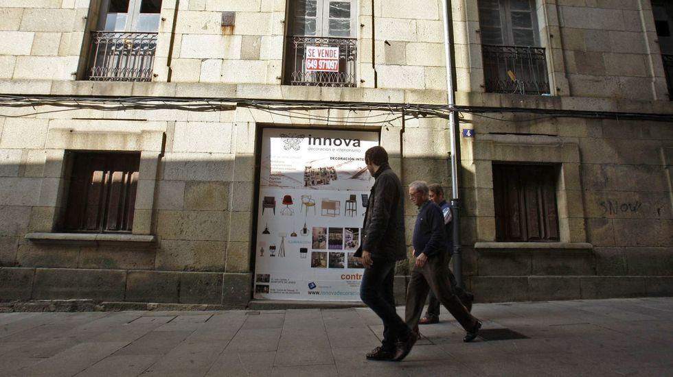 Fachada del antiguo hotel situado en la calle Cardenal, cerca de la plaza de España