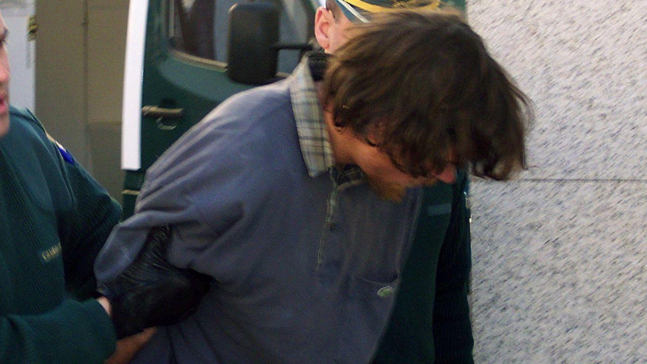 El audio que recoge el intento de rapto en Boiro por parte del Chicle.Imagen de la nave de Asados donde apareció el cadáver de Diana Quer