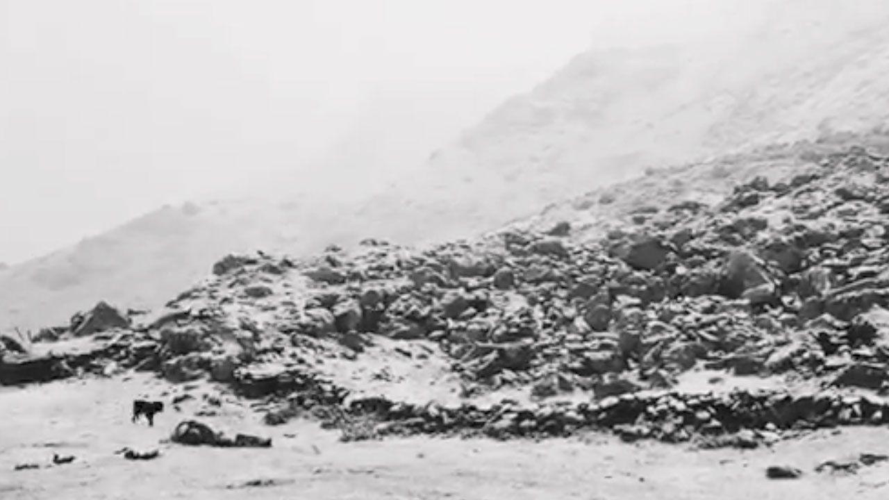 Nieve en el Refugio del Meicín en pleno mes de junio