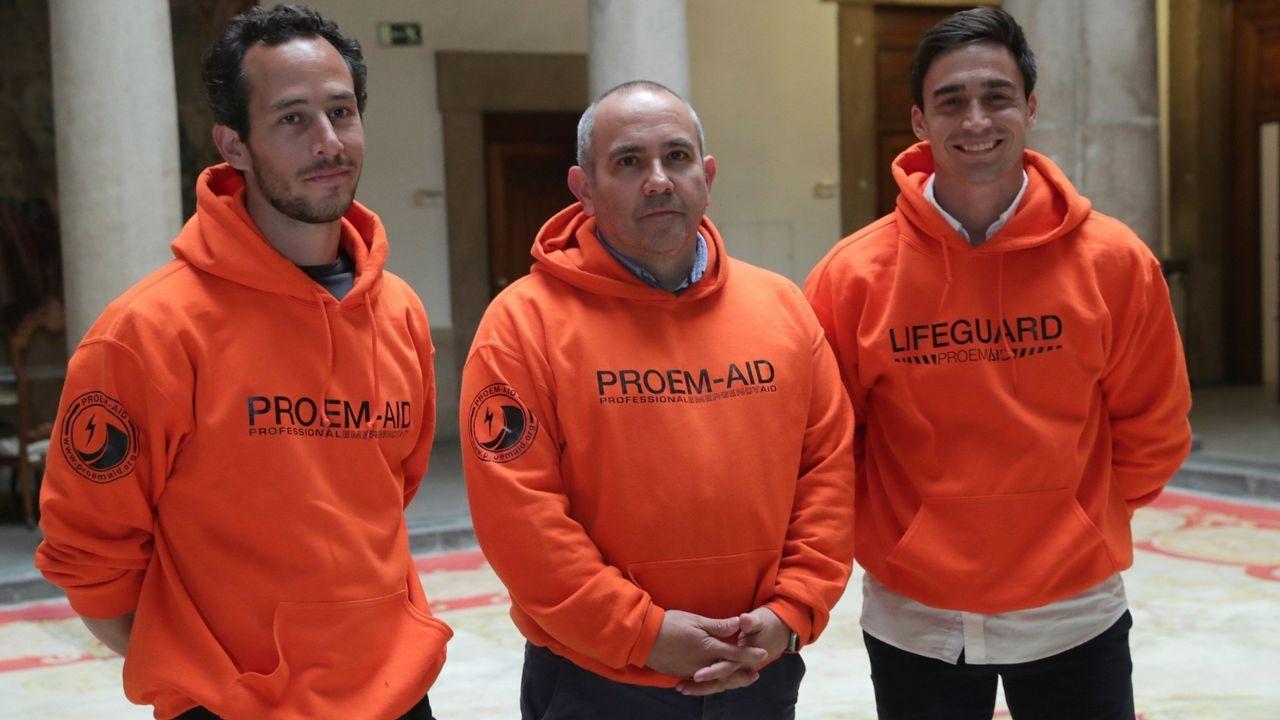 Julio de la Torre, Manuel Blanco y José Enrique Rodríguez