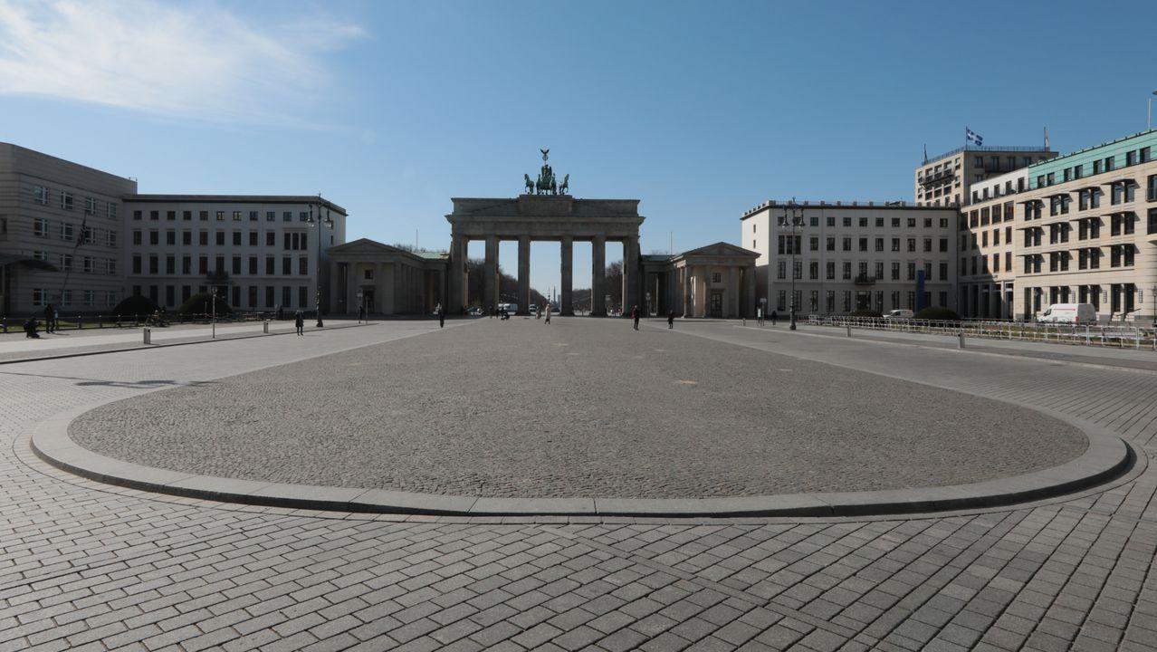 La Puerta de Brandenburgo, en Berlín.