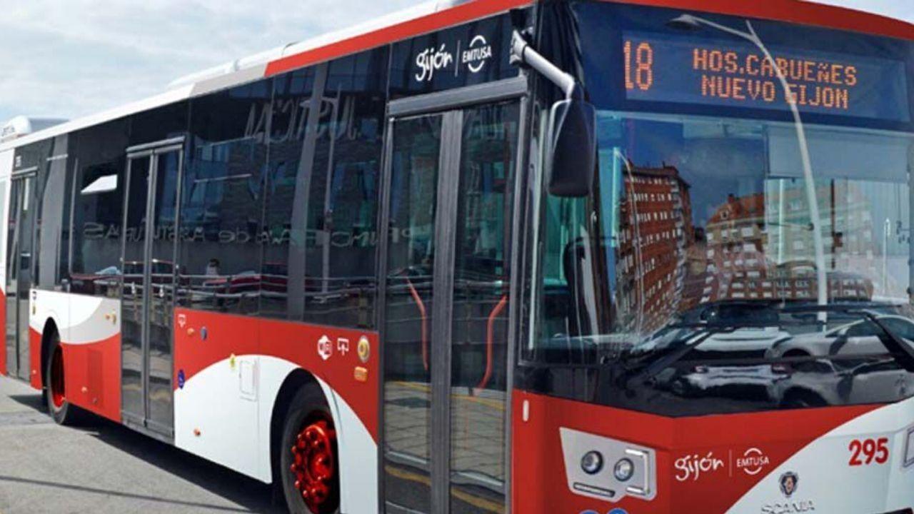 Autobús de la línea 18 de Gijón