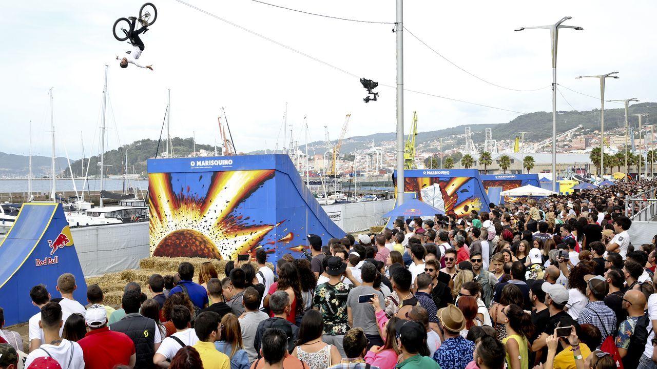 Las imágenes más impactantes de O Marisquiño.El prestigio del festival atrajo a miles de turistas que asistieron a ver los torneos de deportes urbanos