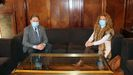 El alcalde de Oviedo, Alfredo Canteli, y la presidenta del PP de Asturias, Teresa Mallada