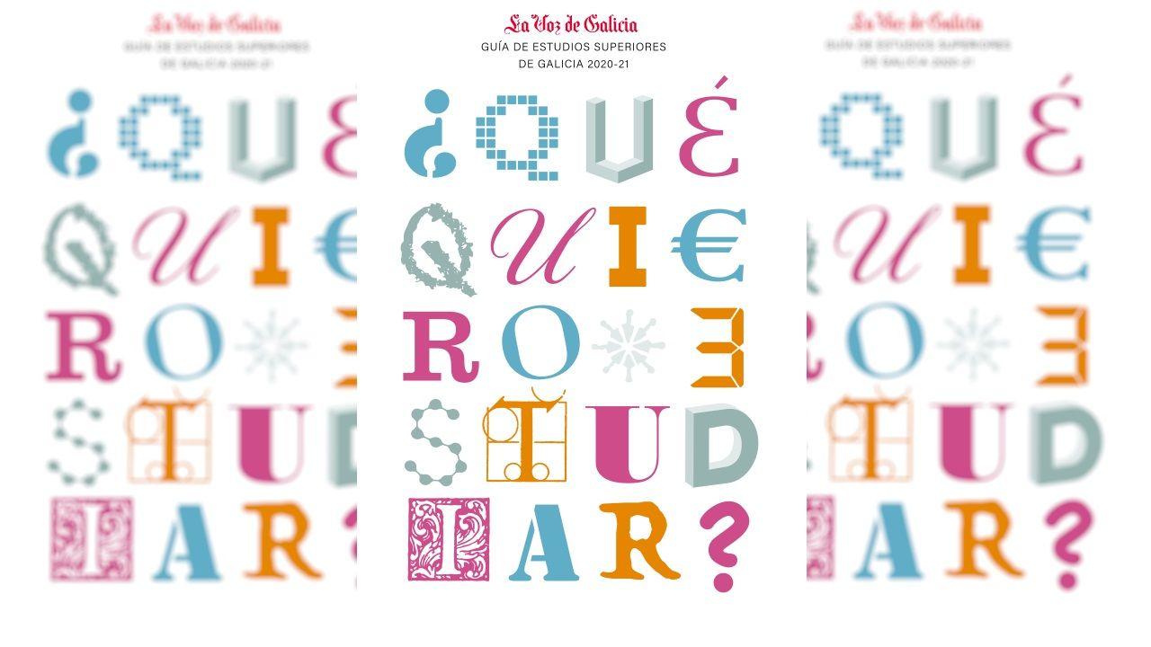 Esta es la portada de la nueva edición de la Guía de Estudios Superiores que La Voz de Galicia regalará con el periódico el domingo día 17